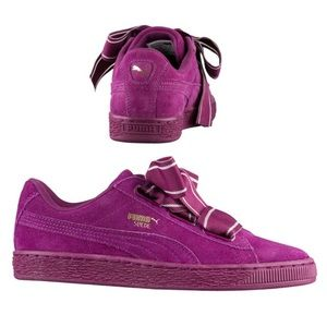 Puma purple suede sneaker